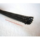 GUAINA A TRECCIA ESPANDIBILE IN POLIESTERE NERO DM 15 MM